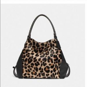 Coach Edie Shoulder Bag -Embellished Leopard Print